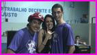 Bianca Aguiar com Ogat e Fernando - organização