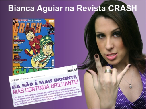Bianca Aguiar na Revista Crash